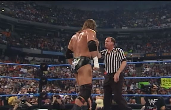 Hebner standing up to Triple H