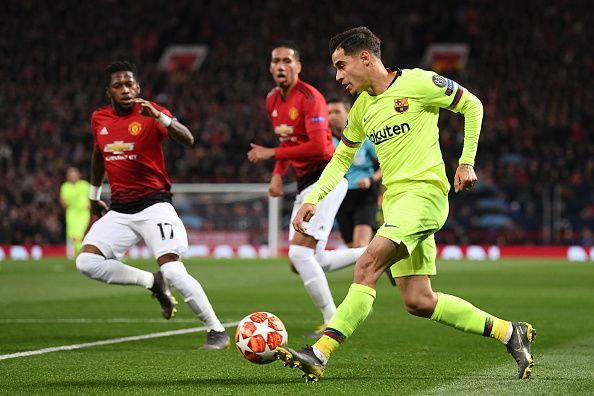 Coutinho was a passenger in the match against Manchester United