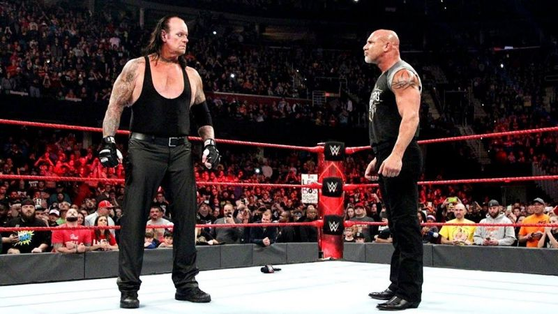 Goldberg and The Undertaker were never even booked for a one on one feud with each other