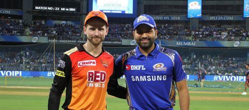 मुंबई इंडियंसऔरसनराइजर्स हैदराबादके कप्तान