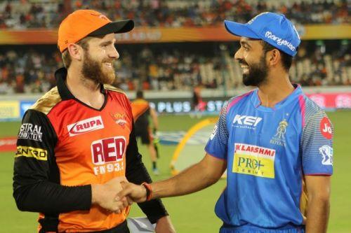 Kane Williamson and Ajinkya Rahane, Image Courtesy: BCCI/IPLT20.com