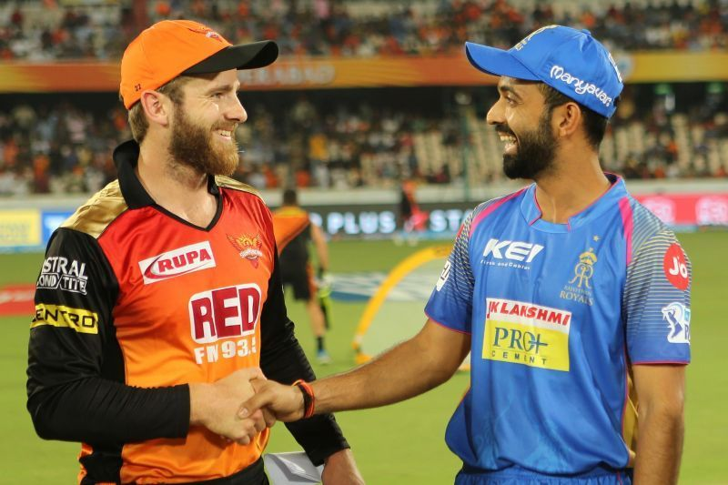 Kane Williamson and Ajinkya Rahane, Image Courtesy: BCCI/IPLT20.com