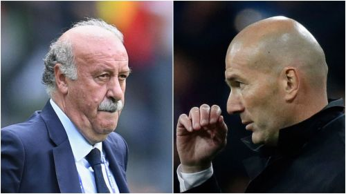 Vicente del Bosque and Zinedine Zidane