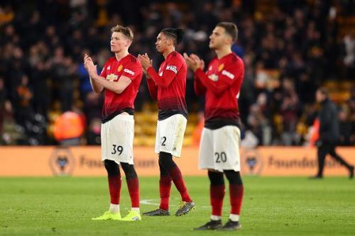 McTominay, Smalling, and Dalot appreciate the supporters after the game