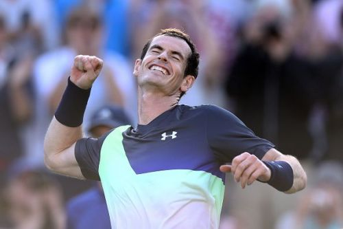 Andy Murray after beating Stan Wawrinka at the Nature Valley International 2018