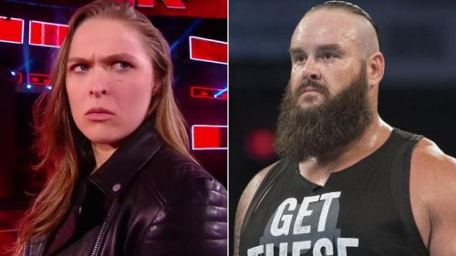 Ronda Rousey and Braun Strowman are members of the Raw roster