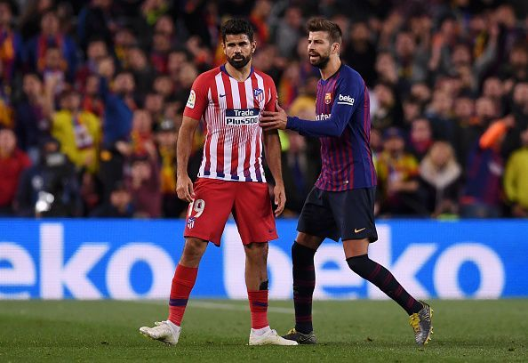 Diego Costa received a red card in the match