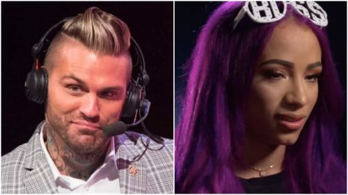 Corey Graves Vs. Sasha Banks in a war of the words!