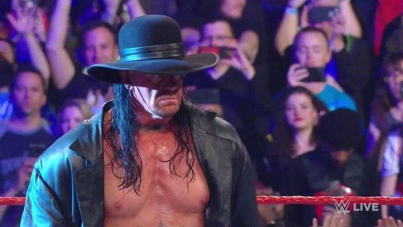 The Undertaker made an appearance on the RAW after WrestleMania to interrupt Elias
