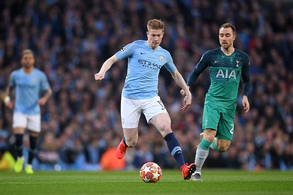 In a game of such magnitude, de Bruyne excelled - becoming the first player in over a decade to record three assists in a UCL QF