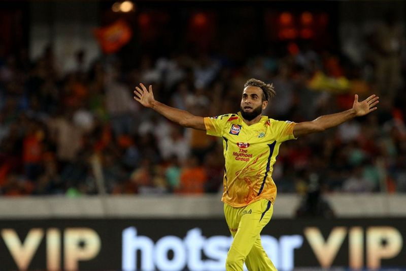 CSK would expect Imran Tahir to control the dangerous SRH openers (Image courtesy: BCCI/iplt20.com)