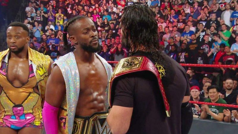 Rollins and Kingston have a staredown
