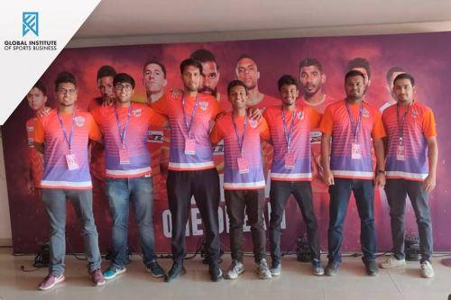 Students during their Internship with FC Pune City at the Balewadi Stadium