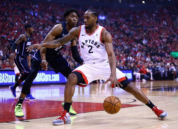 Kawhi in action against the Orlando Magic in Game One