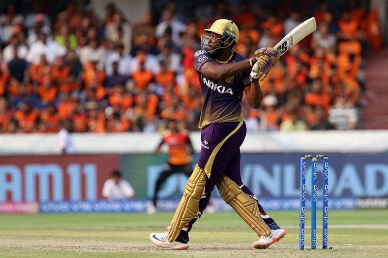 Andre Russell could be pushed up the batting order against MI