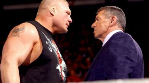 brock lesnar and vince mcmahon