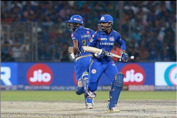 The Pandya Brothers steered Mumbai Indians to 168/5 (Image courtesy: IPLT20/BCCI)