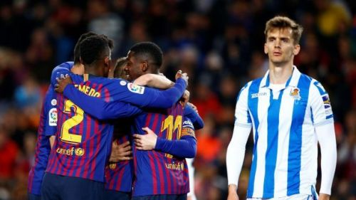Barcelona beat Real Sociedad to restore 9-point lead at the top