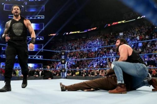 Roman Reigns attacked Elias and Vince McMahon on SmackDown Live