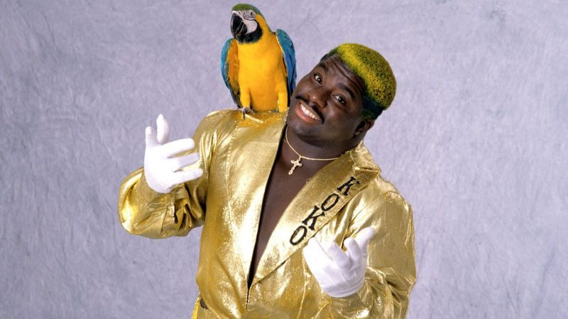 The Birdman was known for his colorful clothing and bird Frankie