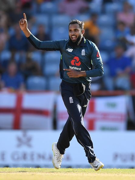 Adil Rashid plays as England's wicket-taking option during the middle overs.