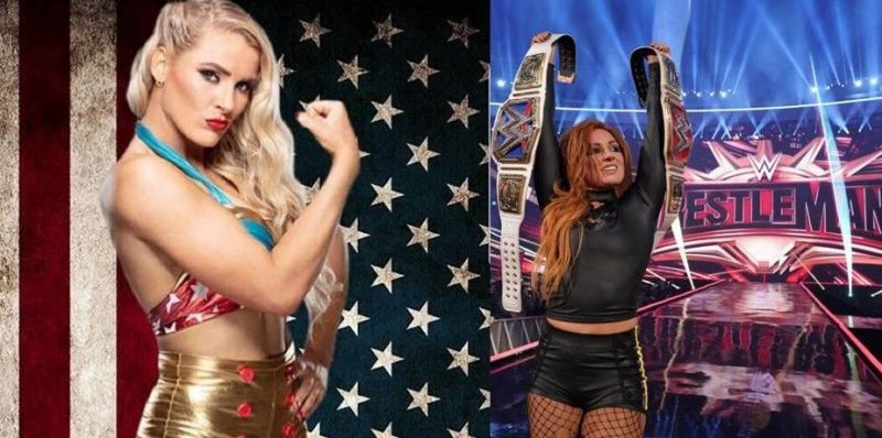 Lacey Evans (left) and Becky Lynch (right) are presently engaged in a heated rivalry on WWE RAW