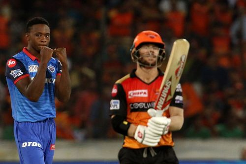 Even Warner's fifty could not stop SRH from losing (Image courtesy: IPLT20/BCCI)