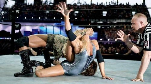 The first great women's triple threat match at WrestleMania
