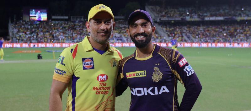 चेन्नई और कोलकाता के कप्तान