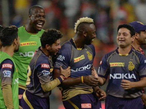 Andre Russell can come to the party again tonight (image courtesy: BCCI/iplt20.com)