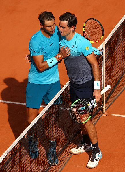 Nadal and Pella at 2018 French Open - Day Five