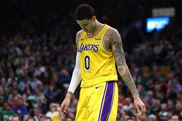 1a2232bb Kyle Kuzma has failed to build on his impressive rookie season with the Los  Angeles Lakers