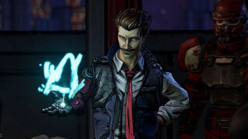 An aged Rhys in Borderlands 3