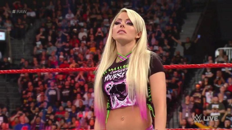 Alexa Bliss returned to the ring on the Raw After WrestleMania