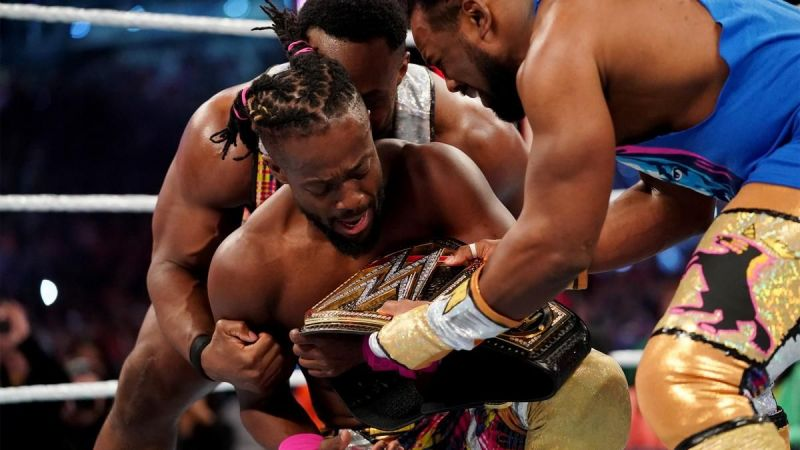 Woods and Big E retrieve the classic version of the WWE Title.