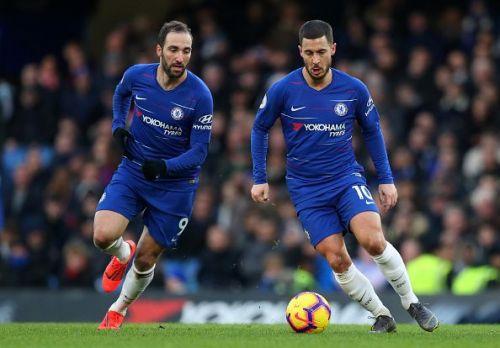 Gonzalo Higuain and Eden Hazard- Chelsea FC