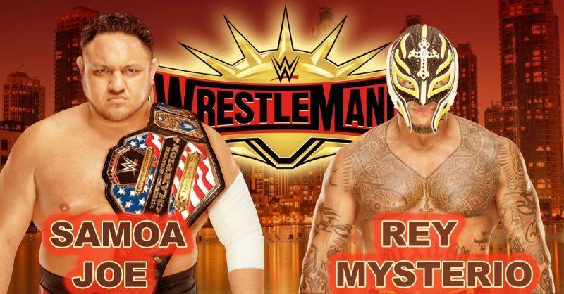 Wrestlemania 35: WWE United States Championship: Samoa Joe (c) vs Rey Mysterio