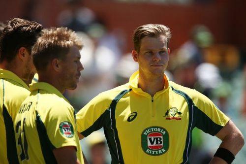 Warner and Smith in Australia's ODI colours