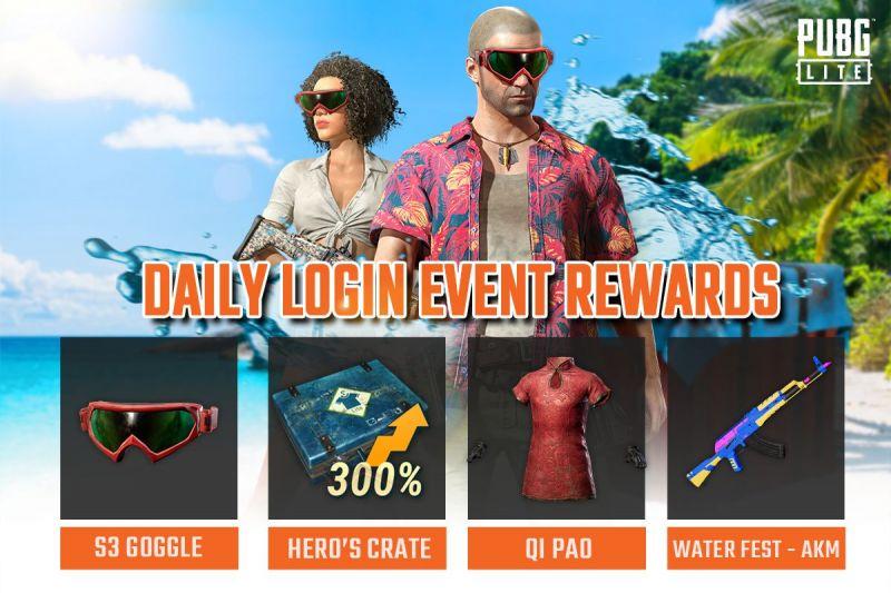 PUBG PC Lite New Login Rewards