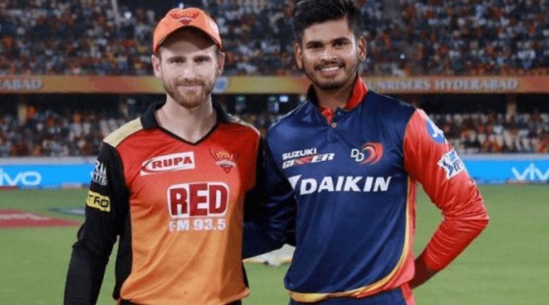 दिल्ली कैपिटल्सऔर सनराइजर्स के कप्तान