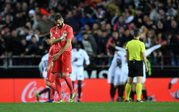 Real Madrid suffered a 2-1 defeat at the hands of Valencia last night