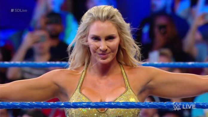 Charlotte was one of the three women to main event WM 35!