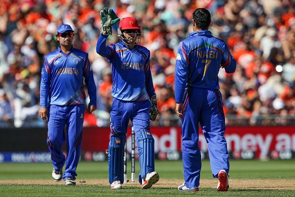 Afghanistan players during the 2015 World Cup