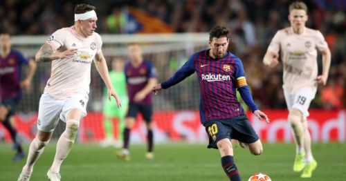 Lionel Messi ran rings around the Manchester United defence and left them in shambles
