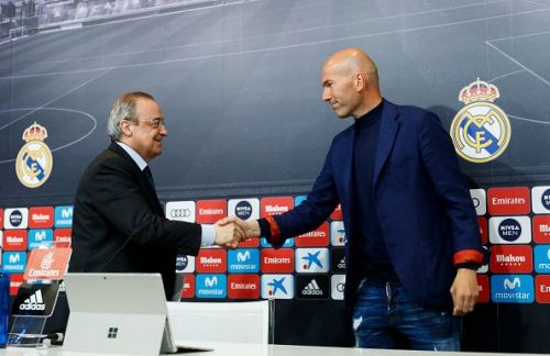 Zinedine Zidane and Florentino Perez are set to make amends ahead of next season with Galactico signing