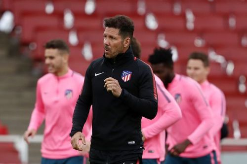Atletico Madrid Training And Press Conference Atletico Madrid manager Diego Simeone
