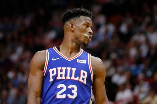 Jimmy Butler and the Sixers face the Brooklyn Nets