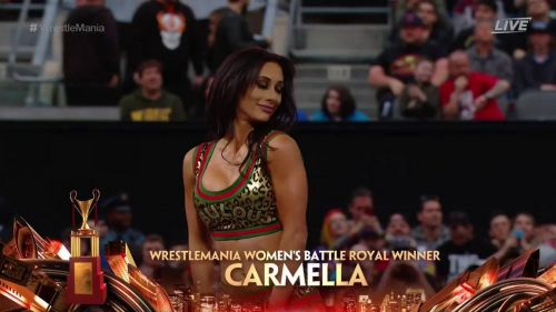 Carmella was the shock winner of this year's Women's WrestleMania Battle Royal