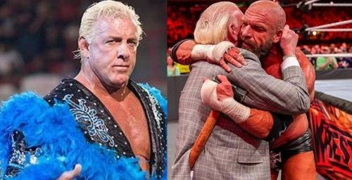 WWE legend Ric Flair (left and center) is as tough as a coffin nail