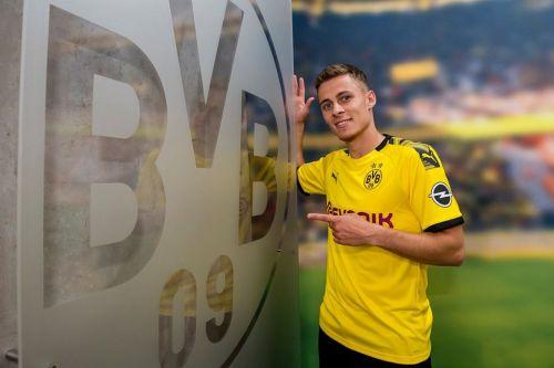 Thorgan Hazard after signing for Borussia Dortmund